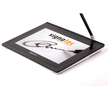 signotec Delta pad side view with pen